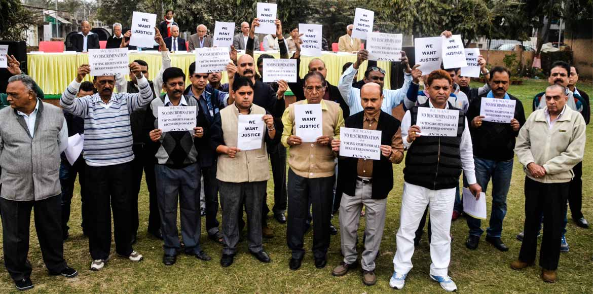 Protests stall Jalvayu Vihar's general meeting