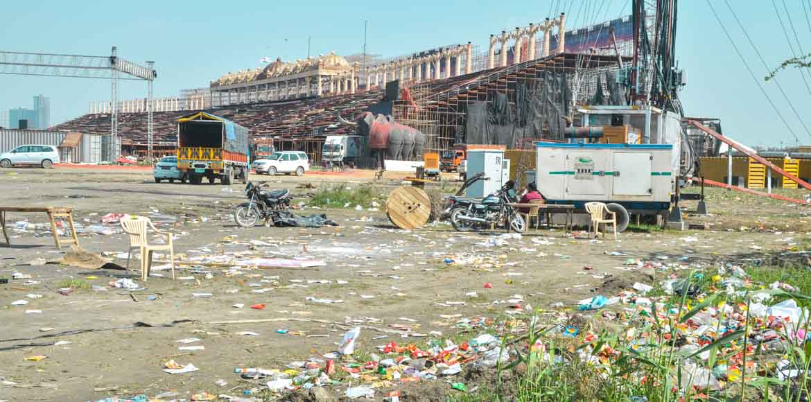 Festival leaves Yamuna riverbed in an ecological mess