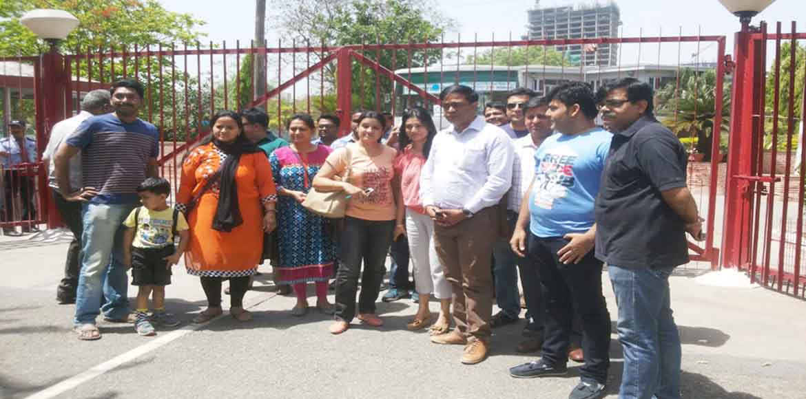 Apeejay Noida: Parents protest a 30 per cent fee h