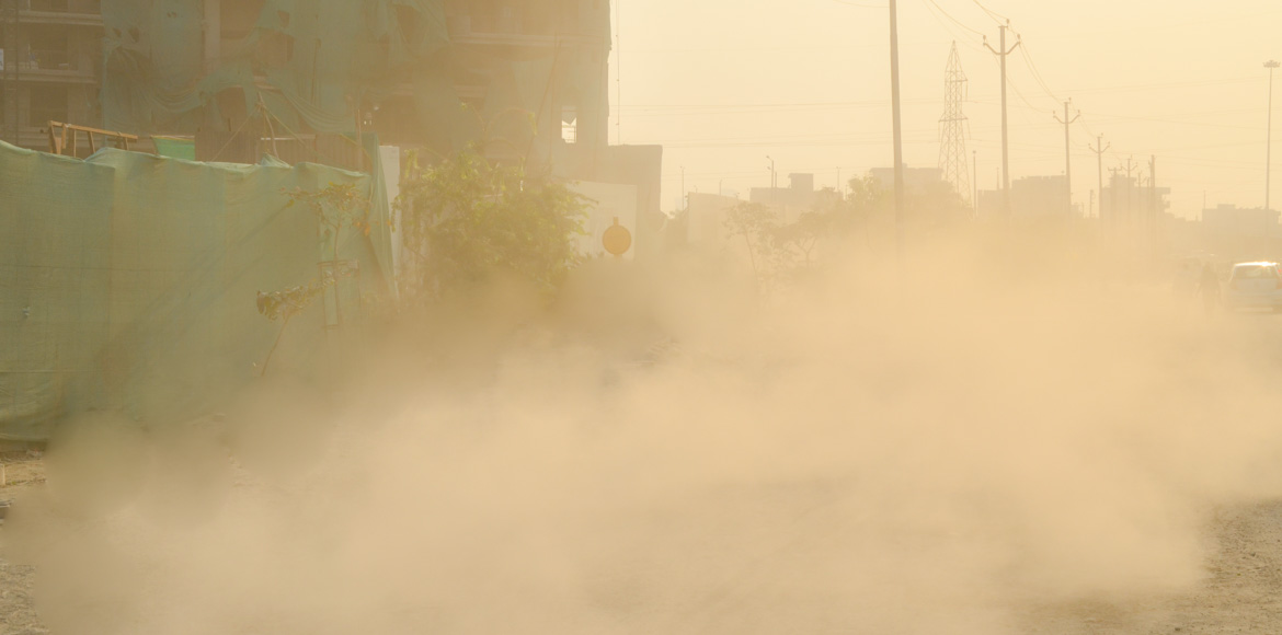 Noida residents sick of construction sites causing dust pollution