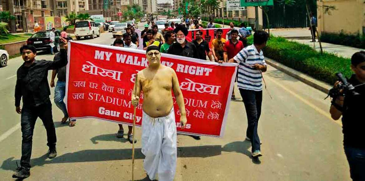 Gaur City refuses to be a sport!