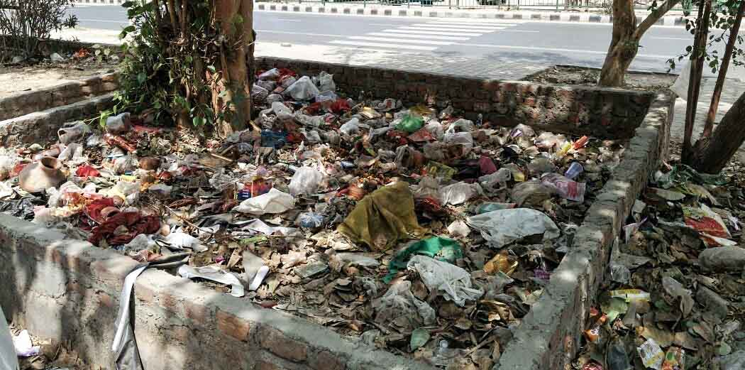 Mahalaxmi Apartments want garbage and dry leaves gone