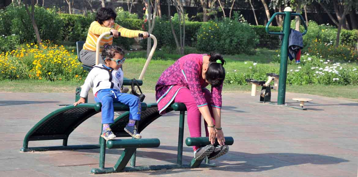 Open-air gyms: Dwarka residents <i>maange</i> more