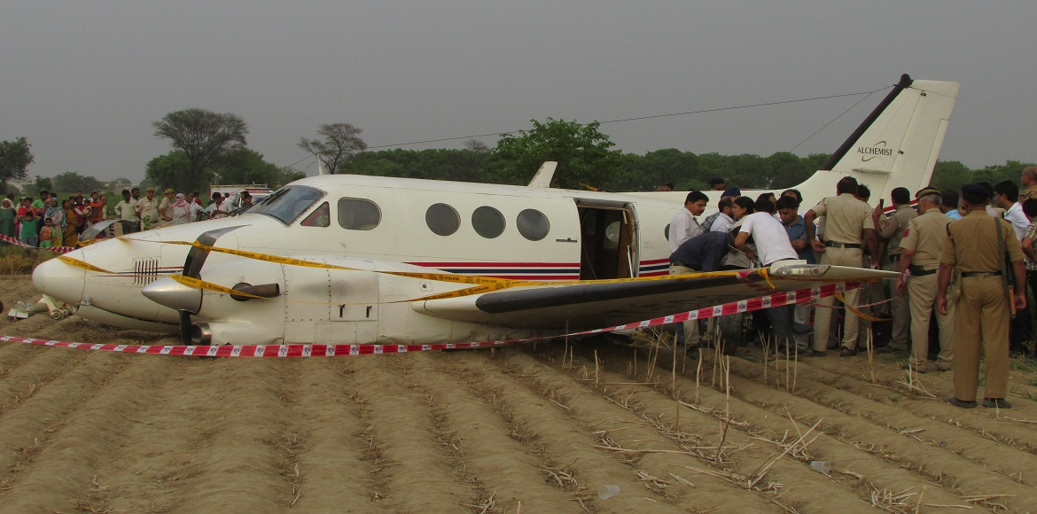 Air ambulance makes emergency landing near Najafgarh, two injured