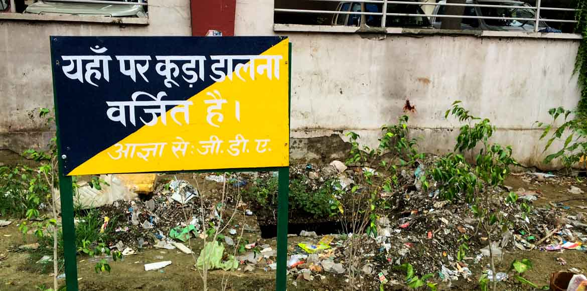 GDA does a shabby job of cleaning drains in Indira