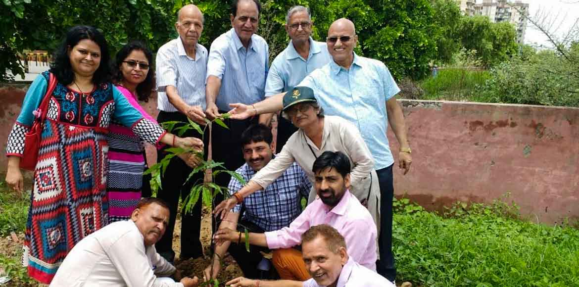 Dwarka residents turn barren lands green