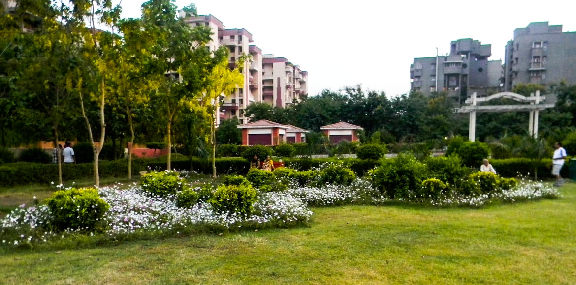 Coming up, well-guarded parks in Dwarka