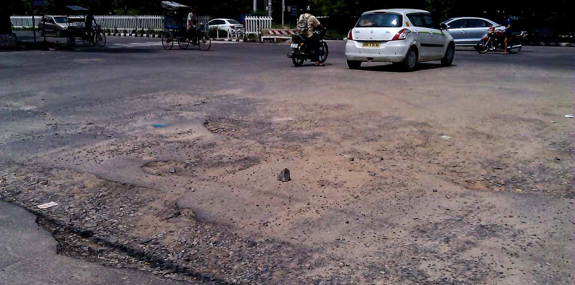 Time to fix these roads in Dwarka!