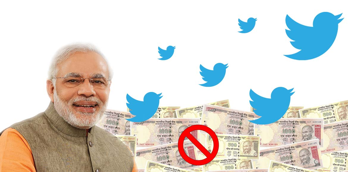 Twitter abuzz with Modi's cash clean-up