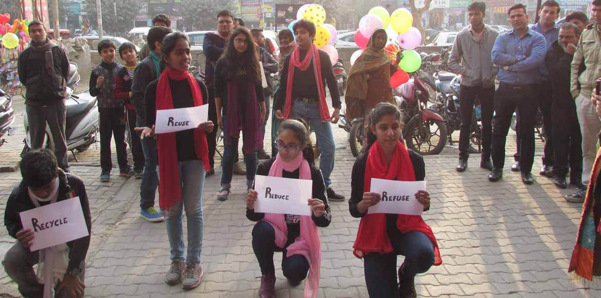 These Dwarka kids have a message: Reduce, refuse,