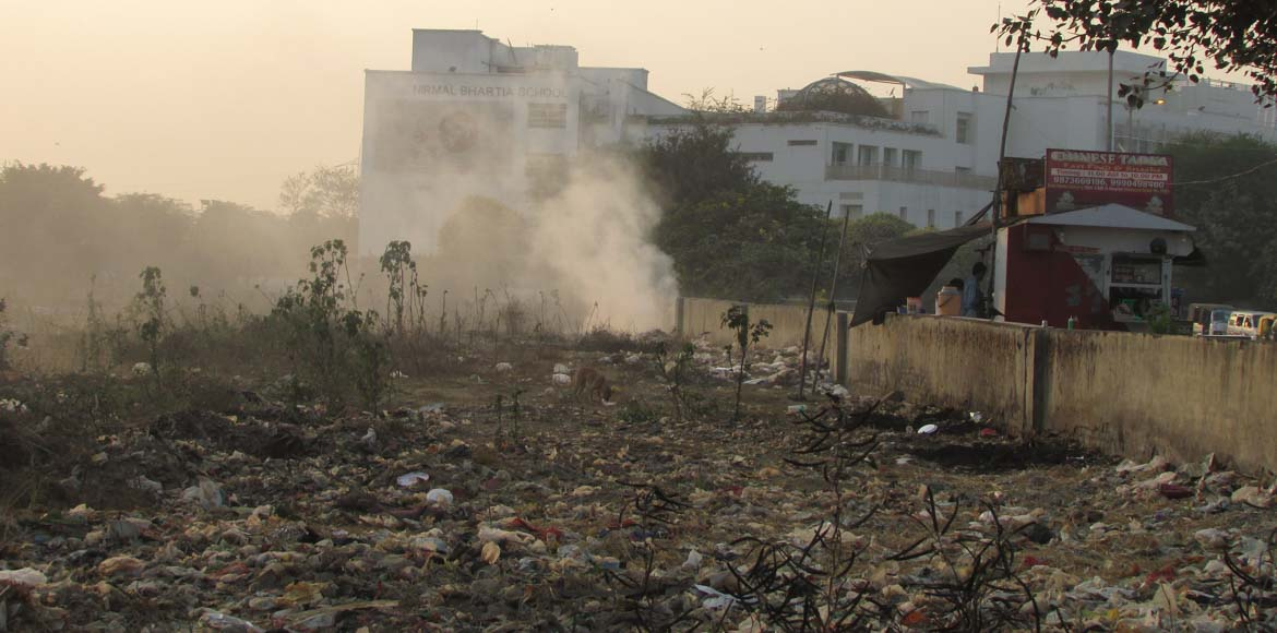 Dwarka: Civic bodies fail to curb waste burning