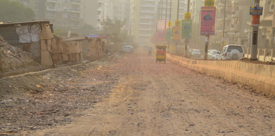 I'puram: Ahinsa Khand societies face dust pollutio