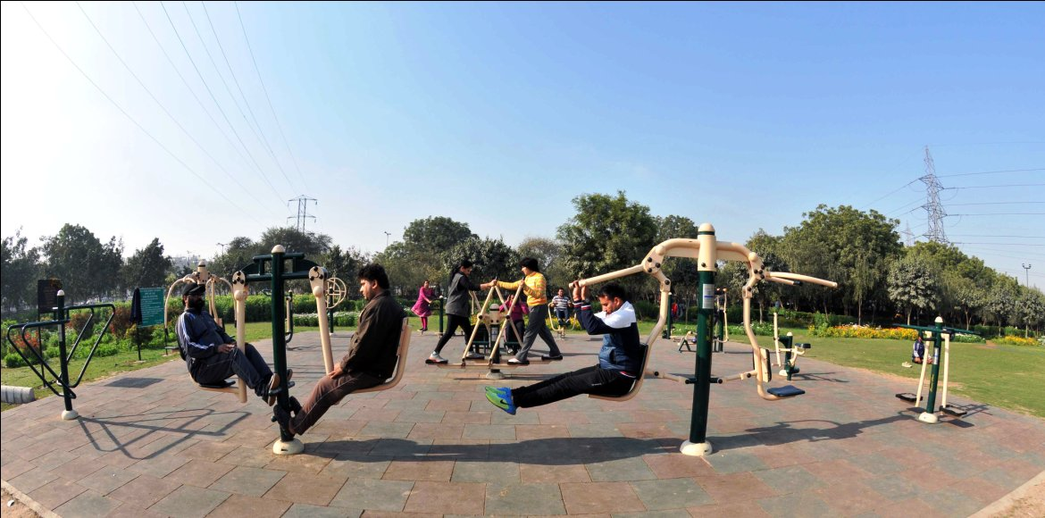 Open-air gym for Noida's Sector 108