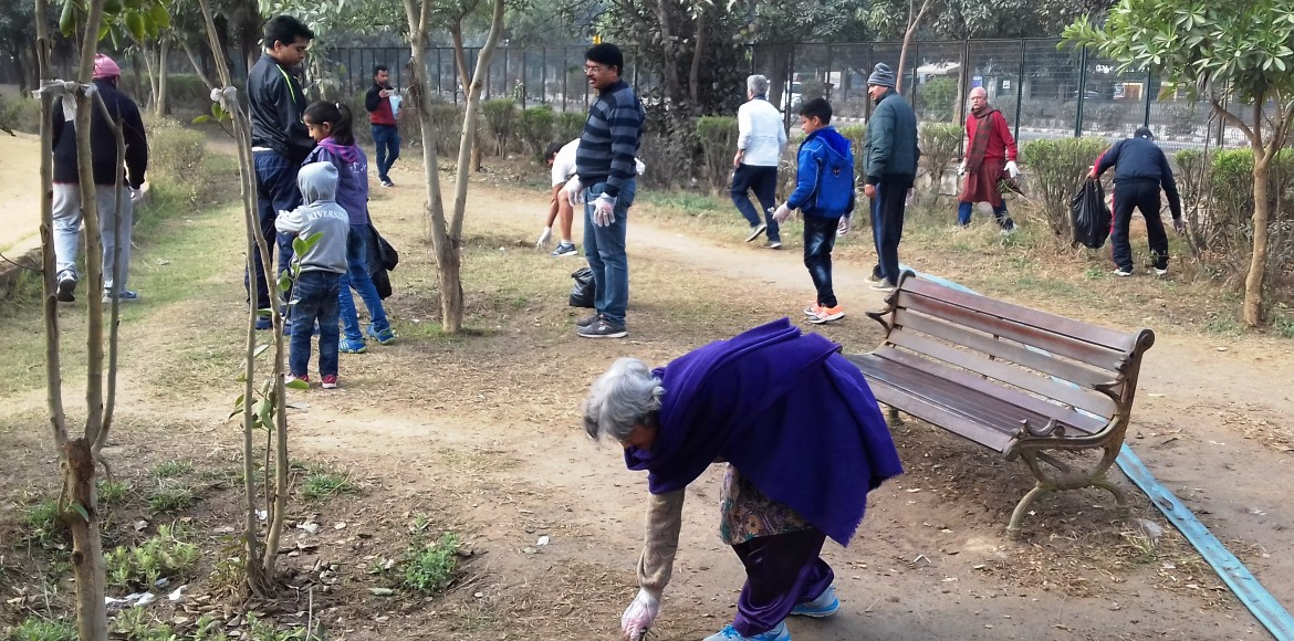 Dwarka: Weekly cleaning drive on, this time at Sector 13 park
