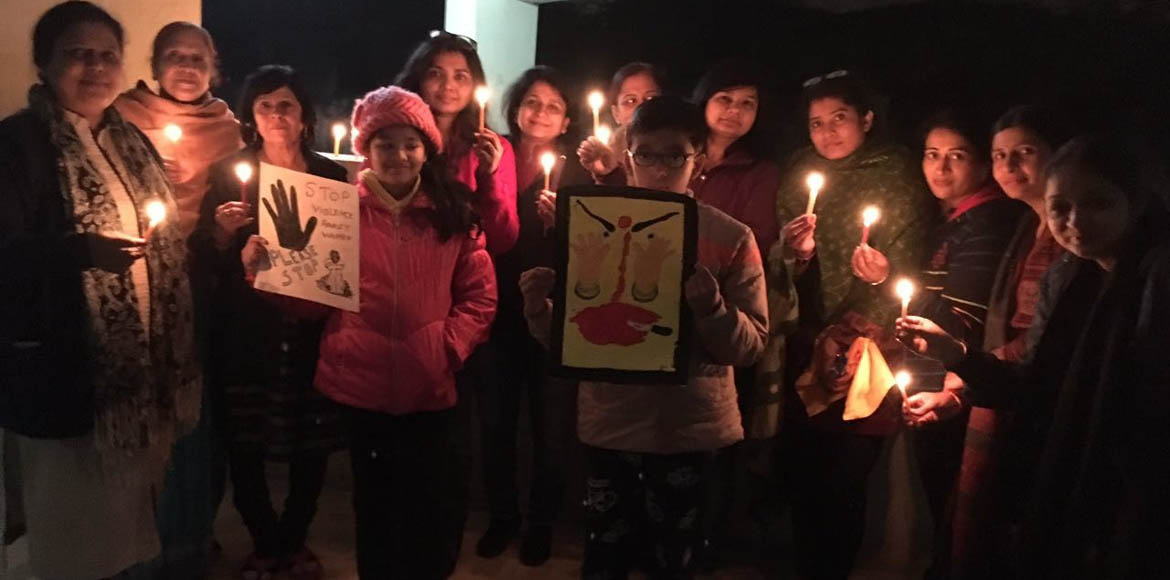 Candlelight vigils in Dwarka for 'I Will Go Out'