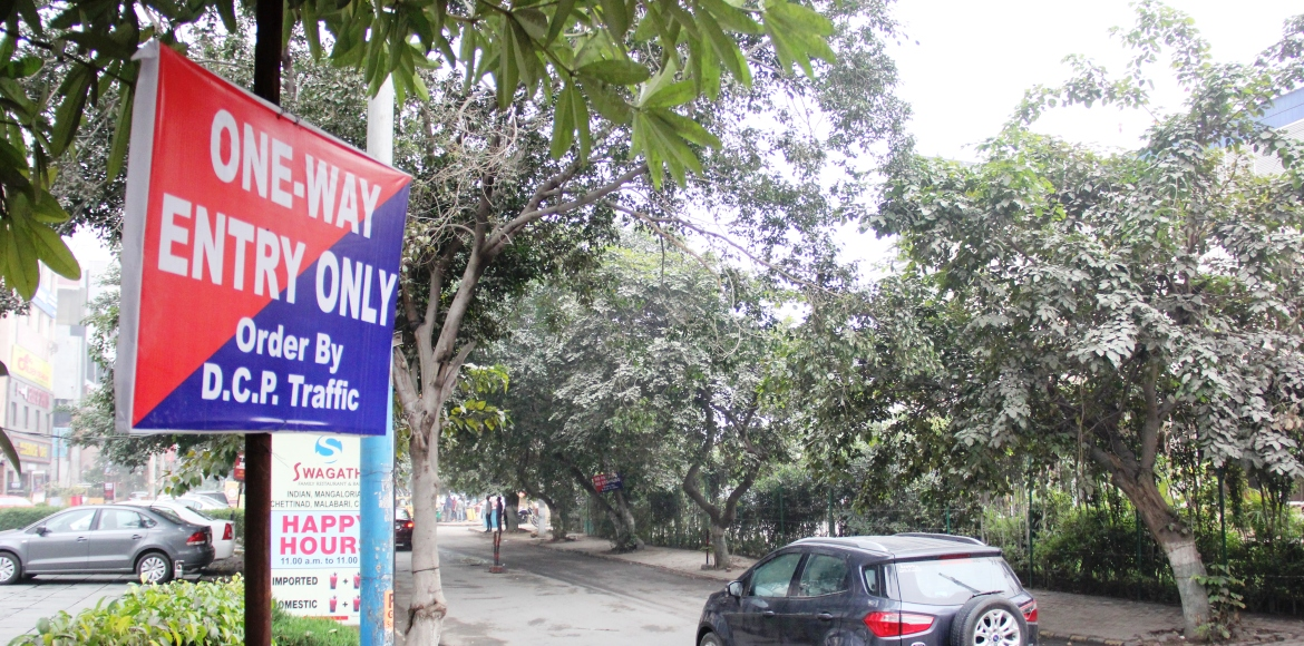 Gurgaon: One-way it is for Sector 29 market