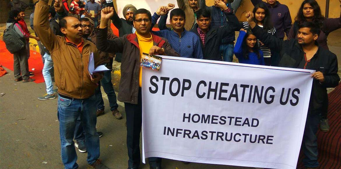 Gurgaon: Homebuyers demand their money back from b