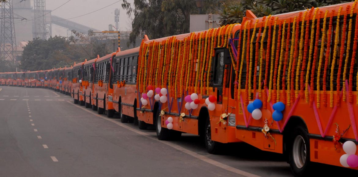 Delhi government flags off 100 new buses