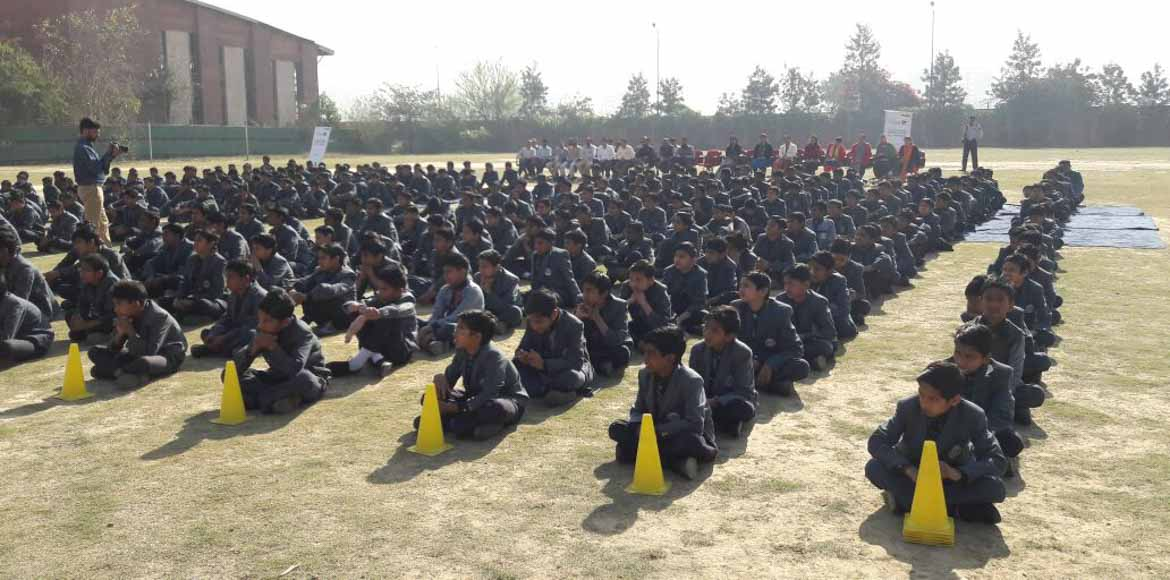 Disaster management mock drill for students in Sec 91, Noida