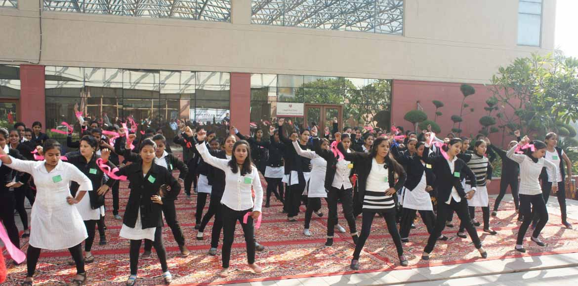 <p>One Billion Rising event at National Law Univer