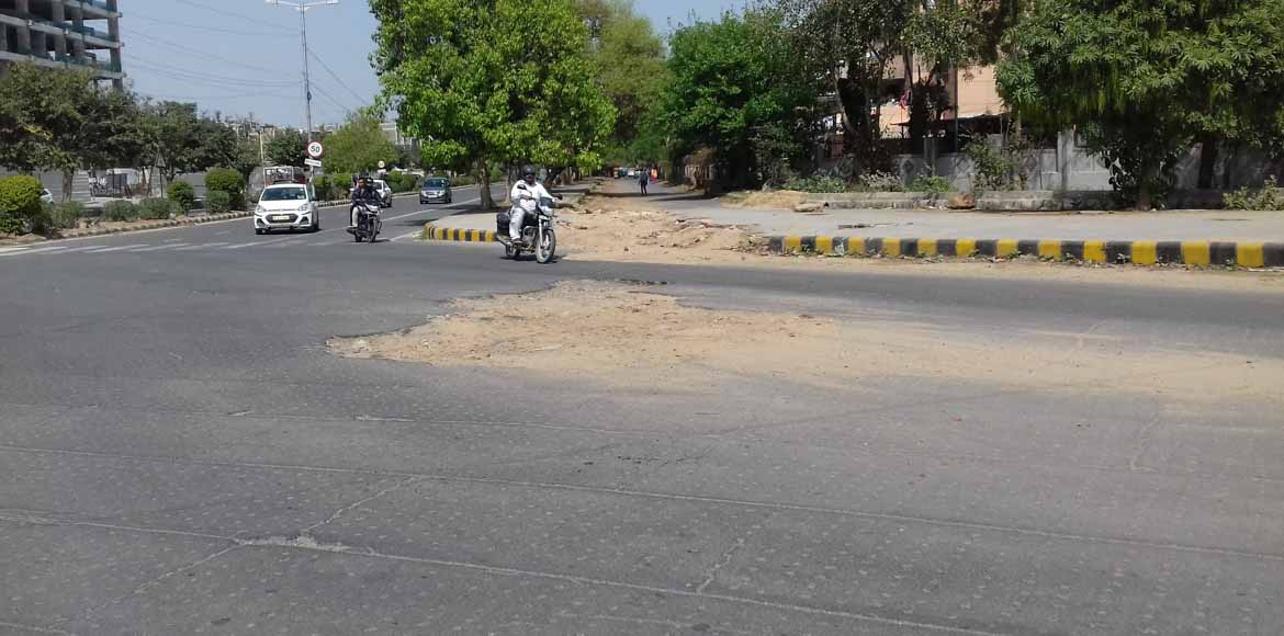 A sorry state of affairs: Roads in Dwarka