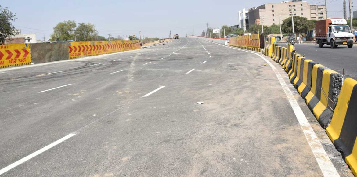 One side of Hero Honda Chowk flyover to open from March 23