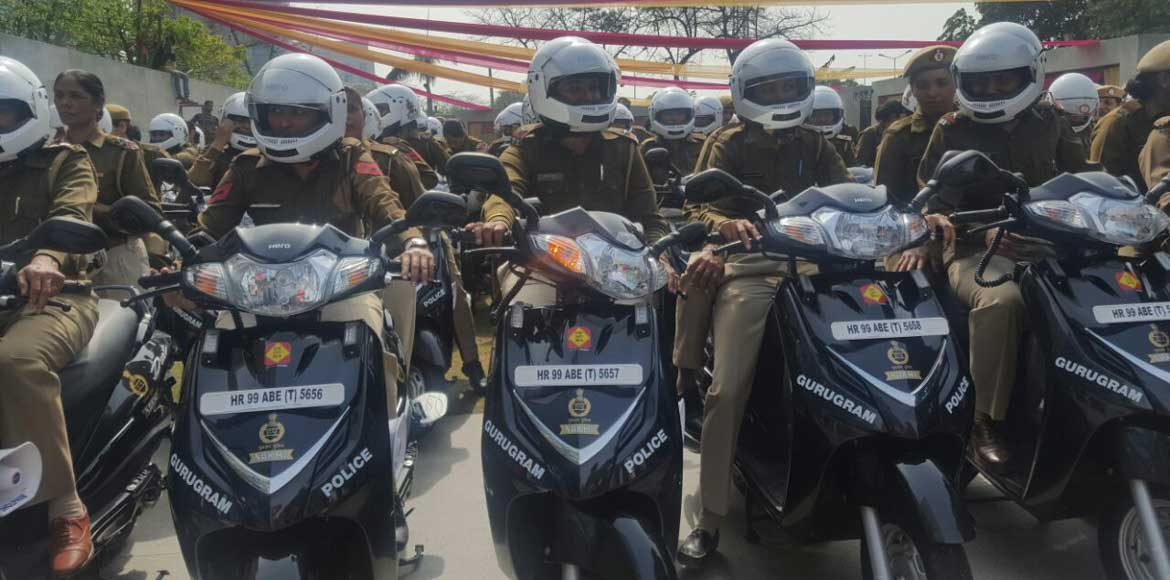 Gurgaon's female police officers get patrol scooters