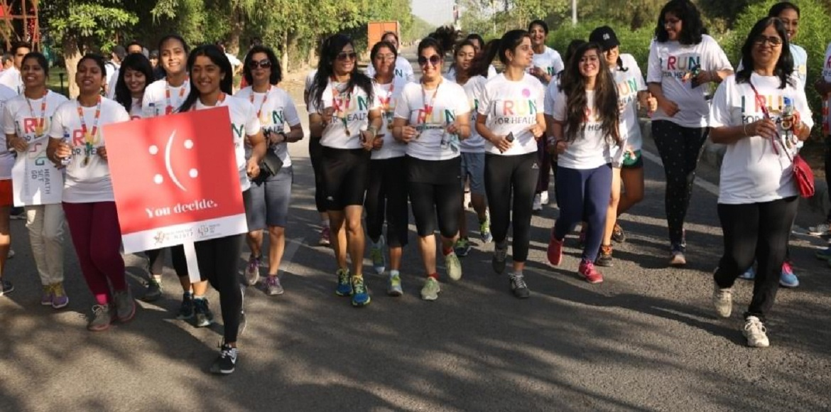 Gurgaon: HealthSetGo organises marathon on World Health Day