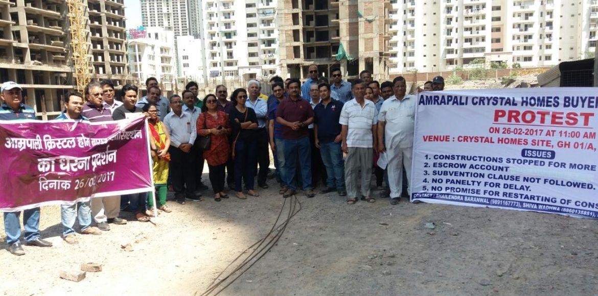 Amrapali Crystal Homes, Noida: Buyers protest against builder