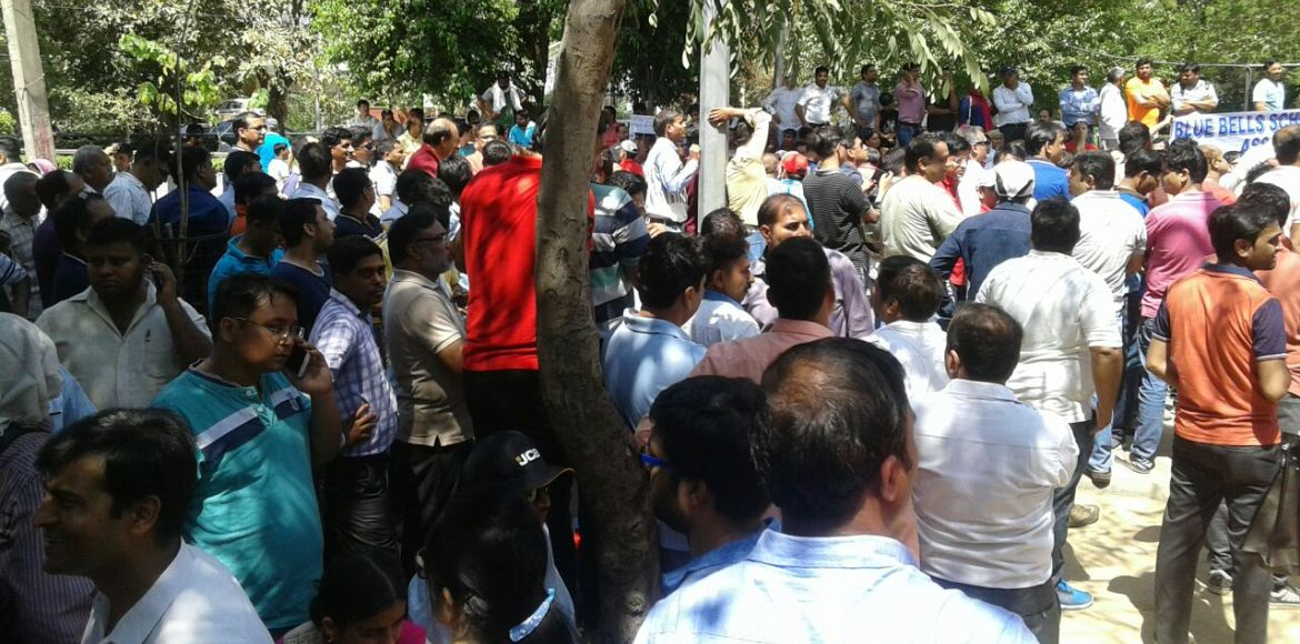 Joint protest against school fee hike at Mini Secr