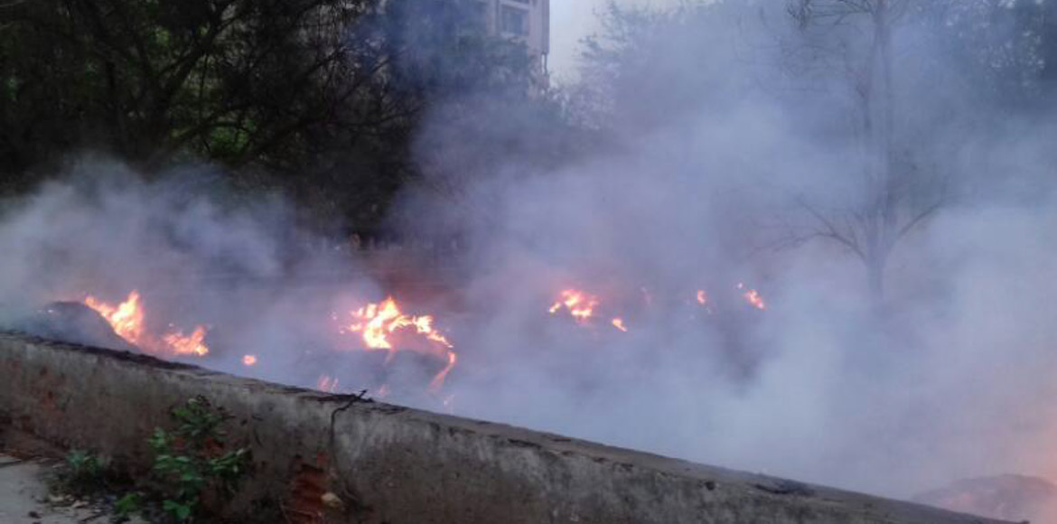 Dwarka: Fire breaks out at vacant land in Sector 1