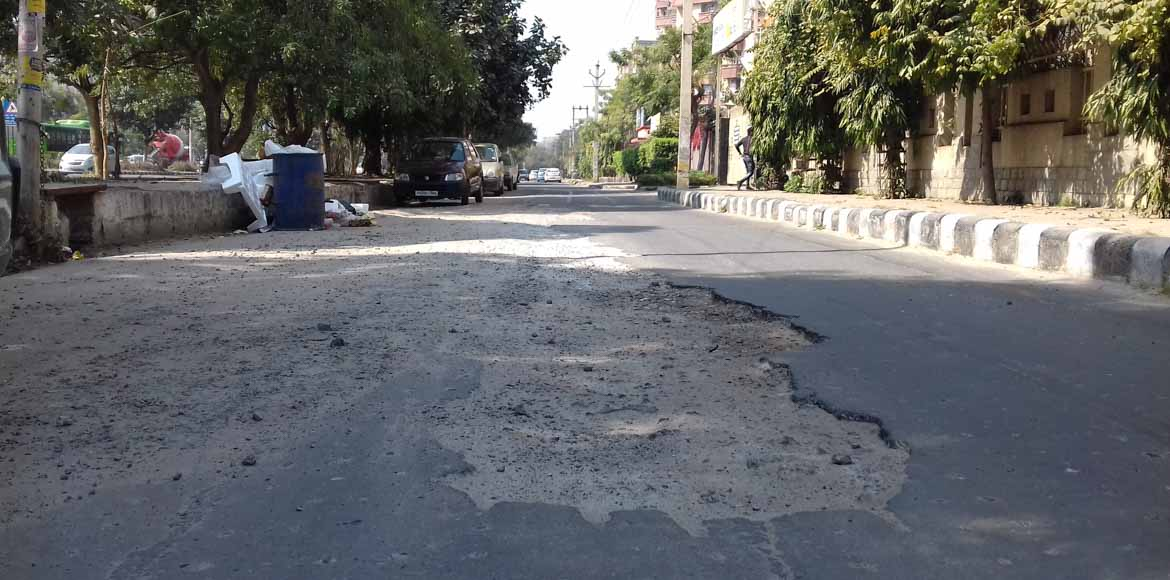 No repair work on Dwarka roads yet!