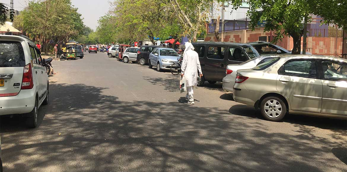 These cars don't belong to Dwarka residents. Guess why they are parked here