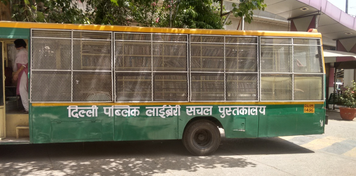 Every bookworm in Mayur Vihar Ph I Ext should catch this green bus
