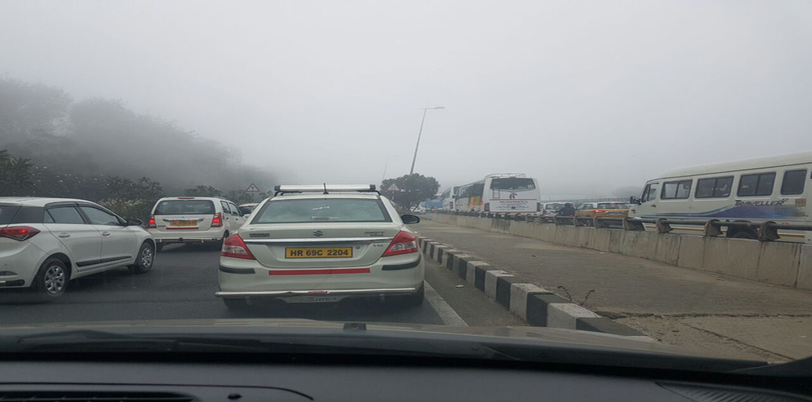 Commuters hassled by regular traffic snarls on Gurgaon-Faridabad road