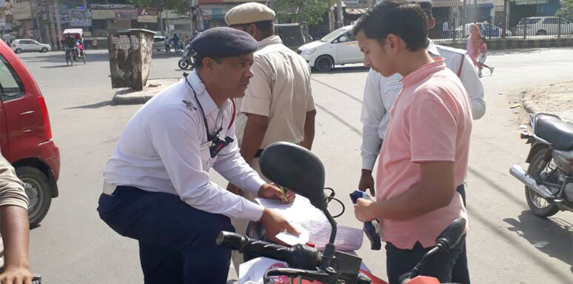 Gurgaon: Traffic police clamps down on underage drivers, warns parents