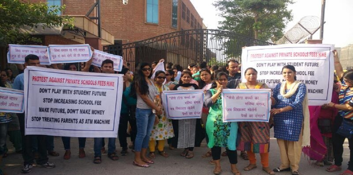 Rs 45,000 to Rs 55,000! Parents protest again agai