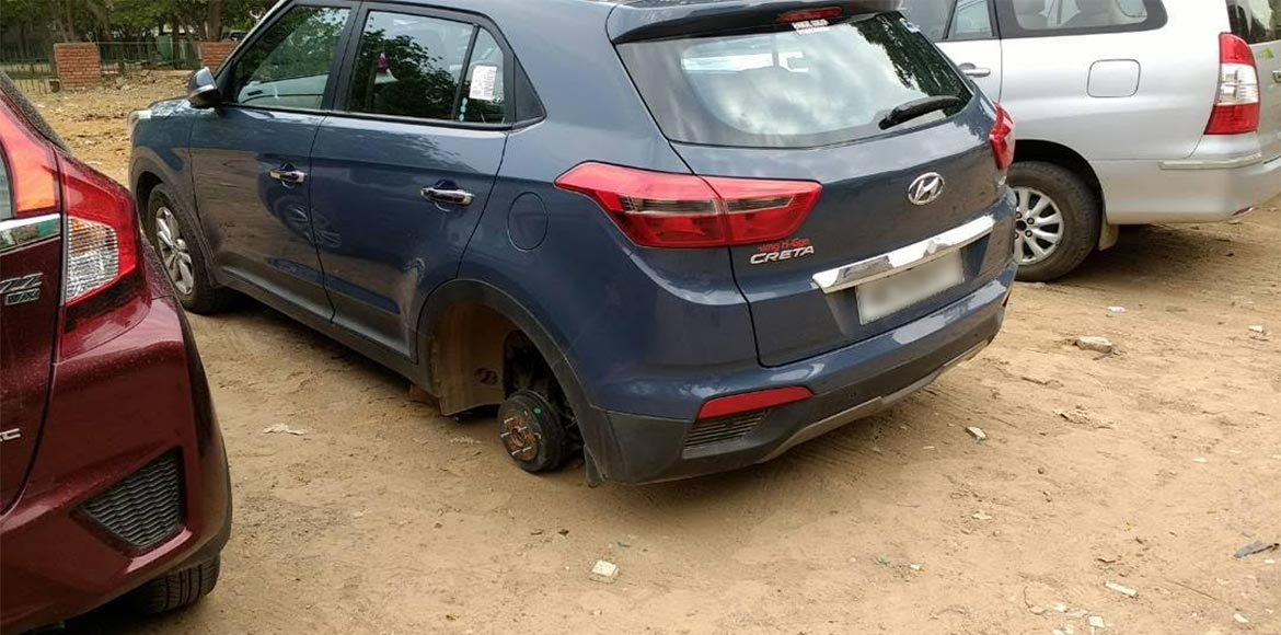 Jewellery, cars, bicycles and even tyres are being stolen from Sec 56, Gurgaon!