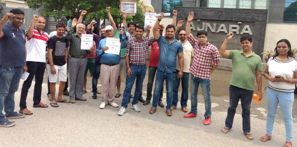 Ajnara Gen X residents protest against poor maintenance