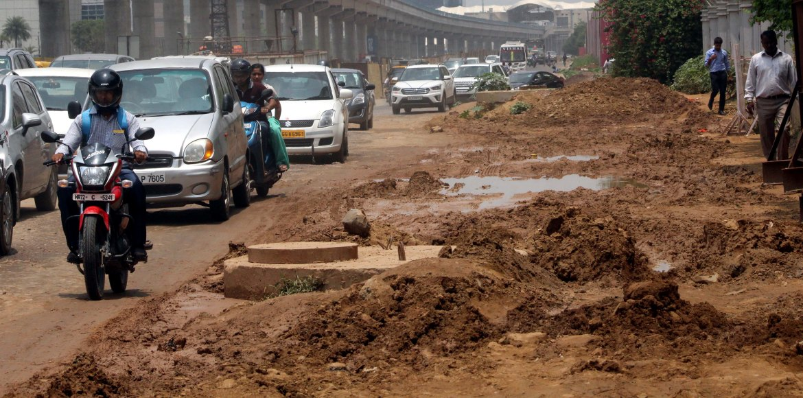 Gurgaon, time to brace yourself for rain-filled potholes