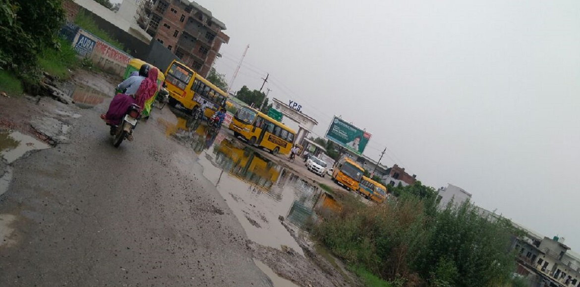 Sec 73, Noida: What a nightmare of a road!