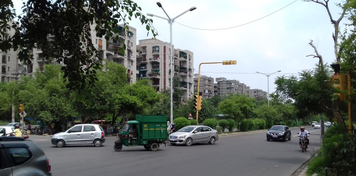 Traffic lights that don't work. That's Dwarka for you