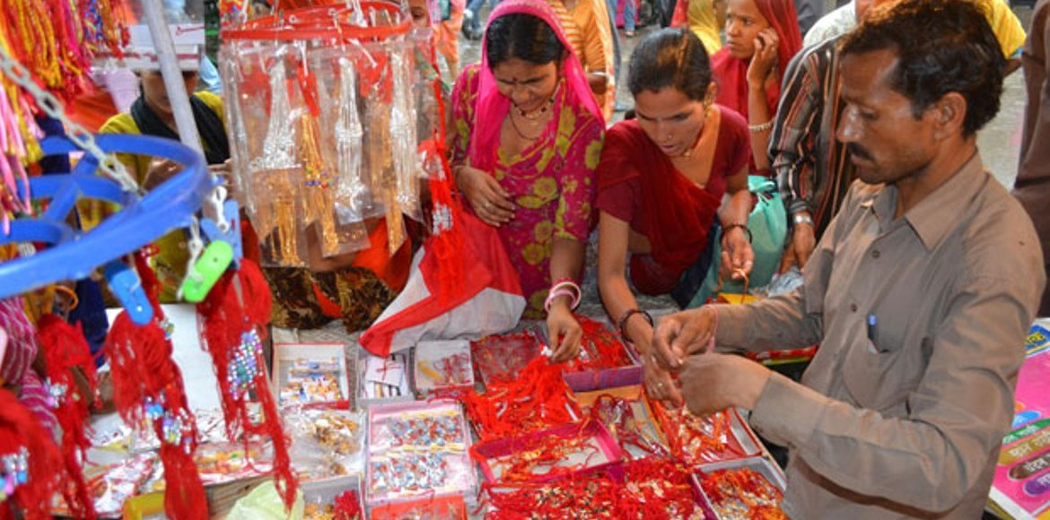 Rakhi prices soar, local sales dip