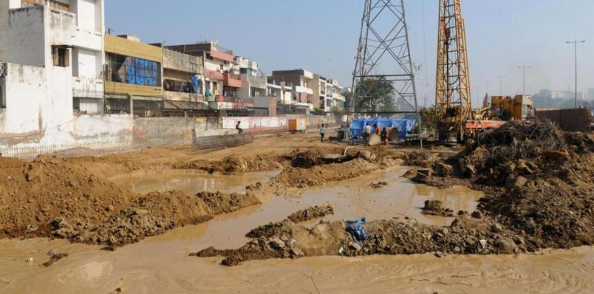 Gurgaon: Another construction-linked pipeline rupture!