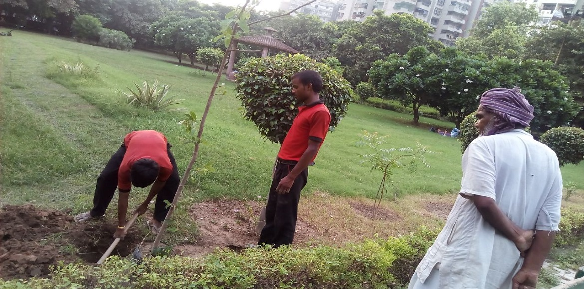 Krishna Apra Gardens residents decided to clean neighbourhood drains themselves!