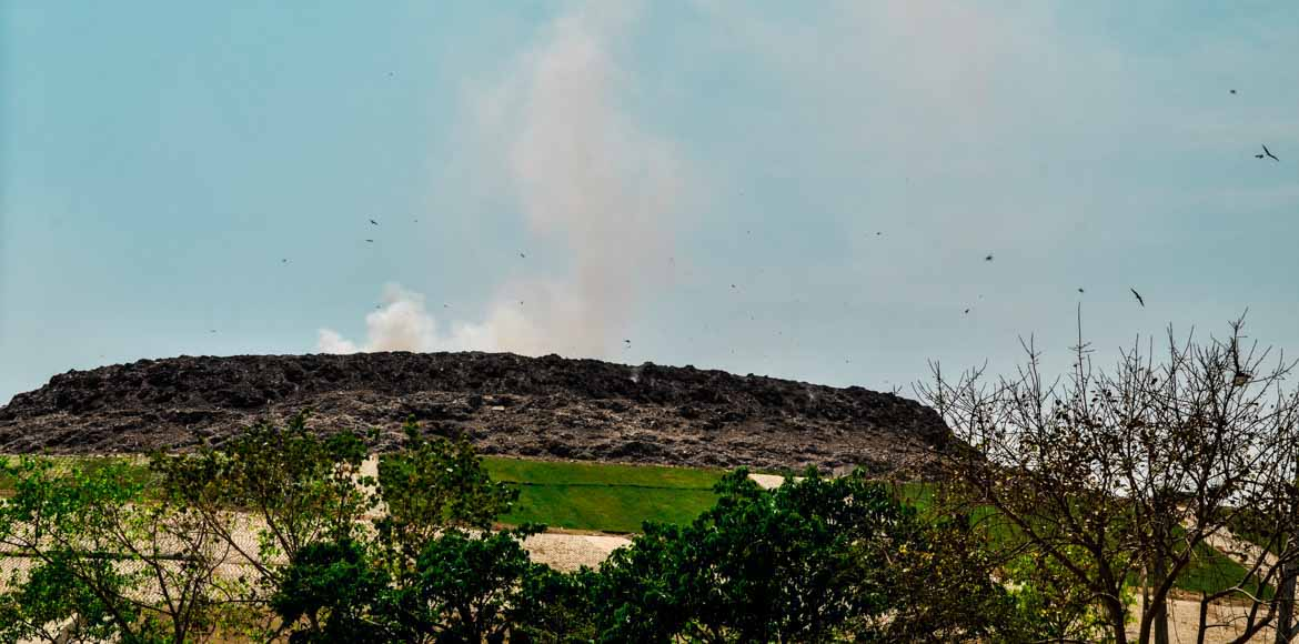 Think you are safe with the firecracker ban? The Ghazipur landfill is burning