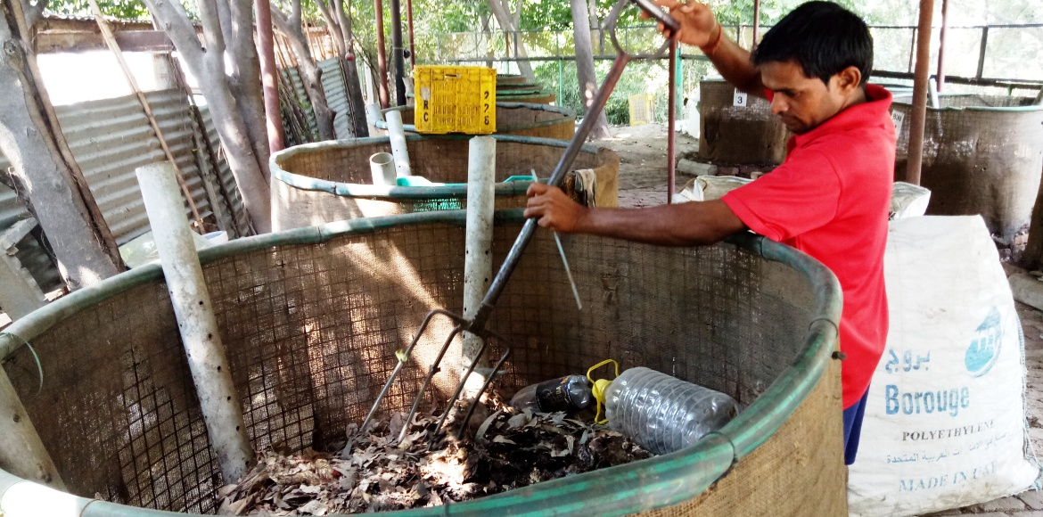 Gurgaon's Garden Estate churns out 800 kg of compost a month!