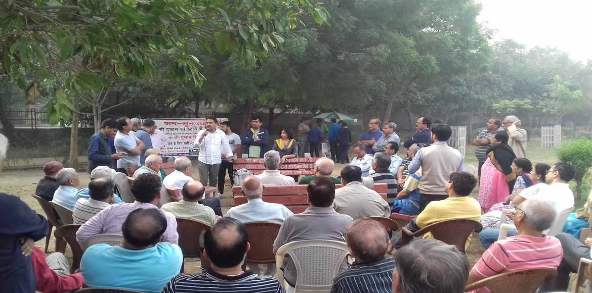Matiala MLA promises to remove liquor vend from Sector 6 Dwarka market