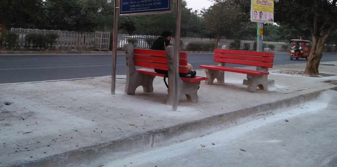 Now rest your weary feet awhile on Dwarka's footpaths