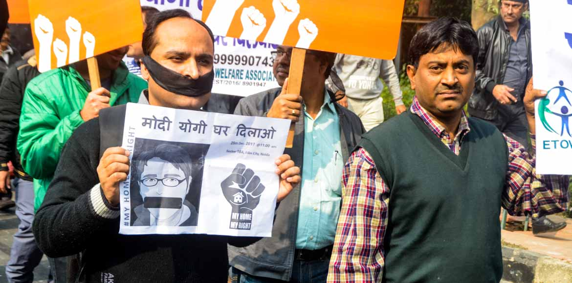 Homebuyers take to Noida streets in protest; fello